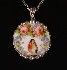 Robin roses forget me nots rare china pattern