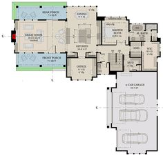Exciting Farmhouse House Plan - 14659RK | Architectural Designs - House Plans