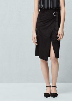 Zakładana spódnica z klamrą - Spódnice dla Kobieta | MANGO Polska