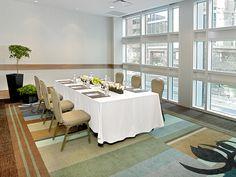 Vancouver Room, 3rd Floor, set up in a boardroom.