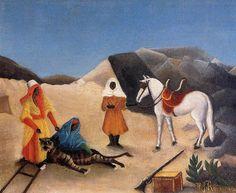 Henri Rousseau - The tiger hunt (1895-96)