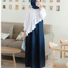 New Dress Brokat Syari Ideas Winter Dress Outfits, Casual Dress Outfits, Casual Summer Dresses, Trendy Dresses, Modest Dresses, Modest Outfits, Cute Dresses, Modest Clothing, Maxi Dresses