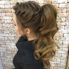 4 Fascinating Cool Ideas: Boho Hairstyles With Hat messy hairstyles for teens.Medium Pixie Hairstyles women hairstyles over 50 style.Wavey Shag Hairst - Hairstyles For Women Wavy Ponytail, Braided Ponytail Hairstyles, Boho Hairstyles, Wedding Hairstyles, Hairstyles 2018, Formal Ponytail, Braided Buns, Messy Buns, Latest Hairstyles