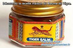 Avec plus de 20 millions de pots de Baume du Tigre vendus chaque année, on peut parler d'un produit apprécié. Voici la recette naturelle pour fabriquer votre propre baume, en utilisant de la cire d'abeille et de l'huile de noix de coco. Découvrez l'astuce ici : http://www.comment-economiser.fr/recette-maison-baume-du-tigre.html?utm_content=bufferff625&utm_medium=social&utm_source=pinterest.com&utm_campaign=buffer