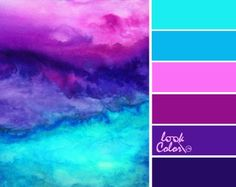 Color schemes - color inspiration - so pretty! teal and purple color palette color schemes Purple Color Palettes, Colour Pallette, Color Palate, Colour Schemes, Color Combos, Ocean Color Palette, Purple Palette, Bright Colour Palette, Beach Color Schemes