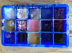 Will It Freeze? - experiment on freezing random mixtures, liquids and solids (use with a melting experiment?)