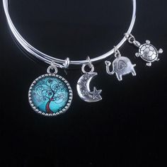 18 Styles Cabochon Dome Tree of Life charms Bracelet Adjustable Expandable Wire Bangles for Women Fine Jewelry
