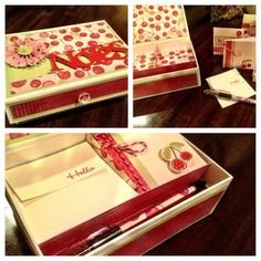 Stationary Box using Close To My Heart materials. Designed by my incredibly creative Upline - Tina Sutton!