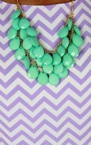 Mint Tear Drop Necklace