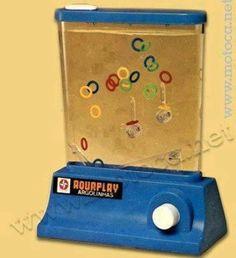 De l'eau et de l'air... L'ancêtre du jeu vidéo. il fallait mettre les anneaux dans les picots en faisant circuler l'eau en appuyant sur le bouton blanc.