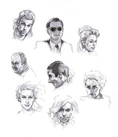 Faces sketch study 5 by SILENTJUSTICE.deviantart.com on @deviantART