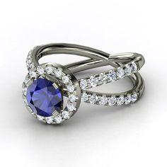 "Sapphire Engagement Ring, ""Orbit"""