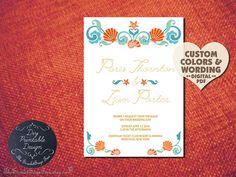 SEASHELL Rustic BEACH Wedding Invitation DIY by TheScarletSageTree