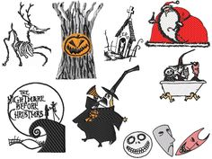 Nightmare Before Christmas Embroidery Design Set #3: Design Sets - 006 - Kewl Stitches been looking for these :D