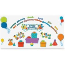 Carson-Dellosa Boho Birds Birthday Bulletin Board Set  Birthday, Fun Theme/Subject - 12, 12, 5, 4, 4 (Birds, Month Heading, Cupcake, Balloon, Party Hat, Happy Birthday) Shape - 42 / Set    CDP110235 | FSIoffice | 2017