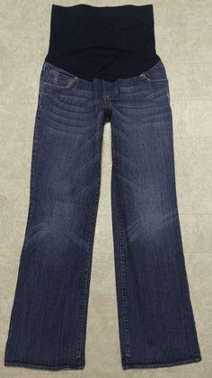 NWOT Women's Liz Lange Maternity jeans over the belly band sz 2 30x30 #LizLangeMaternity #StraightLeg