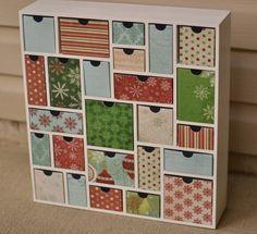 Creative advent calendar - Ikea mini shelfs - mini kommode von Ikea für Adventskalender