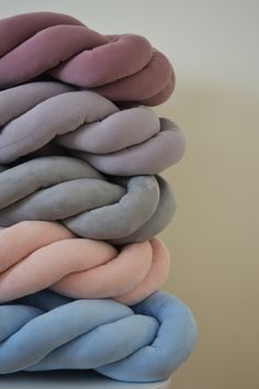 Pastel knot pillows