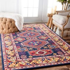Shop For NuLOOM Handmade Overdyed Tribal Medallion Navy Rug (5u0027 X 8u0027)