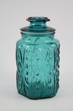 Vintage Imperial Glass Atterbury Scroll Teal by YourWheelhouse, $29.75