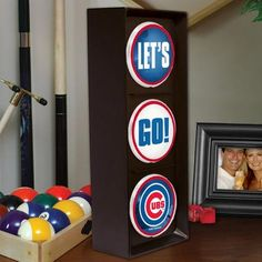 Chicago Cubs Flashing Let's Go Light