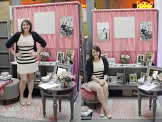 LOVE what Amanda did for her bridal show booth. I may have to take some inspiration from this. :)