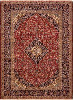 Red Kashan Area Rug