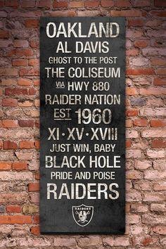 """Oakland Raiders Vintage Subway Art - 40"""" x 16"""" on HauteLook"""