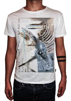 HERMAN EPIS - STRIPPED - T-Artist Collection - Author T-Shirt #doubleexcess #hermanepis #artist #art #artfashion #fashion #style #workofart #tshirt #tee #menstshirt #mensclothing #menswear #mensfashion #alternativetshirt #alternative #elegant #madeinprato #madeinitaly