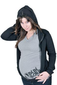 08dc7381a5b Chandail bébé bord et veste capuchon de Belly Bedaine. Maternité