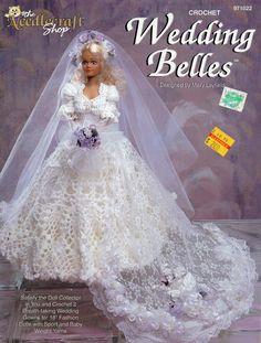 "Wedding Belles 11 1/2"" Doll Crochet Pattern by The Needlecraft Shop"