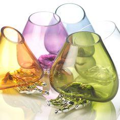 Vasi in vetro soffiato - MANO  #vetrosoffiato #argentopuro #arte #vasi