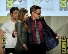Elizabeth Olsen and Robert Downey Jr.