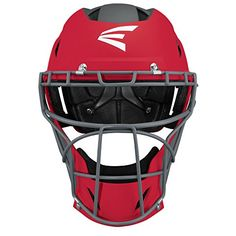 Easton Prowess Fastpitch Matte Helmet Lg RD Red Easton Baseball, Softball Equipment, Steel Cage, Softball Catcher, Fastpitch Softball, Football Helmets, Black, Red, Black People