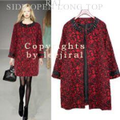 Red Floral Coat