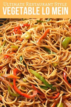 chinese food Best and easy authentic chinese vegetable lo mein recipe. Fix your dinner or lunch under 30 mins with this healthy noodle stir fry with cabbage and more veggies and best lo mein sauce to make this delicious chinese food menu item. Chinese Vegetables, Fried Vegetables, Healthy Vegetables, Comida China Menu, Chinese Food Menu, Chinese Noodle Recipes, Easy Chinese Recipes, Healthy Chinese Food, Homemade Chinese Food