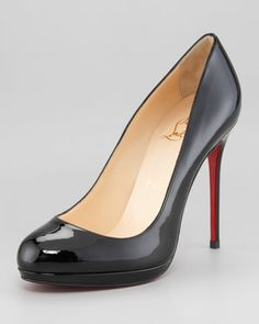 Filo Patent Leather Platform Pump by Christian Louboutin at Neiman Marcus.