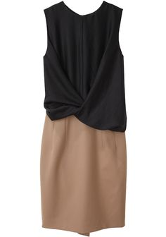 Carven Sleeveless Bi-Fabric Dress