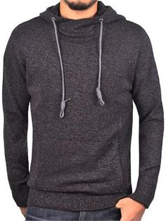 146d7601cde4ae Men s Marled Hooded Sweater from Jordan Craig Legacy Edition Black Shadow