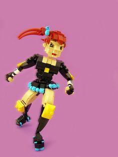 Lego roller derby girl by Legohaulic.