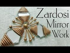 In this video I will show you how to make Zardosi Mirror Work for beginners Zardosi Work hand embroidery in a very simple and easy why so please watch the fu. Hand Embroidery Videos, Hand Work Embroidery, Embroidery Flowers Pattern, Embroidery For Beginners, Diy Embroidery, Embroidery Techniques, Zardosi Embroidery, Hand Embroidery Stitches, Free Machine Embroidery Designs
