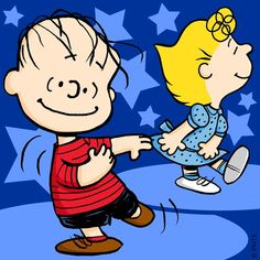 Too cute...charlie and sally brown dancing. Think it may be Linus...