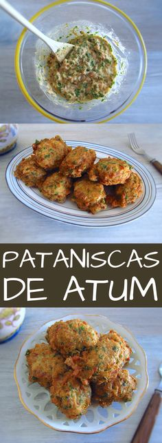 Recipes Tuna If you want to prepare a quick and simple recipe, you must try this tuna fritters recipe. Serve with tomato rice and lettuce salad. Good Foods To Eat, Healthy Foods To Eat, Healthy Snacks, Tuna Croquettes Recipe, Tuna Recipes, Cooking Recipes, Comidas Paleo, Portuguese Recipes, Food Website