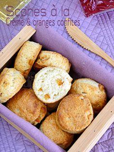Scones à la crème & écorces d'oranges confites