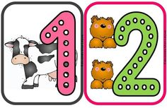 Animales Clipart, Yoshi, Numbers, Homeschool, Dots, Comics, Montessori, Counting, Fictional Characters