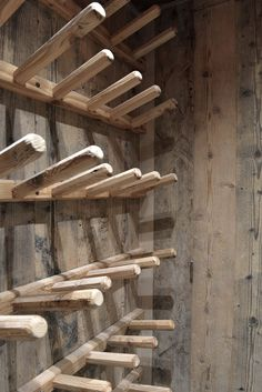 Winter Decor | #Chamonix | Wooden racks