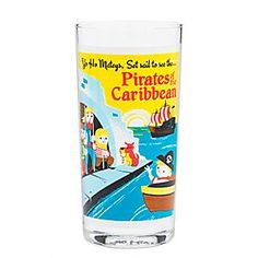 Pirates of the Caribbean Retro Glass Tumbler | Disney Store Yo Ho, it's a pirate's life for thee when sipping from this <i>Pirates of the Caribbean</i> retro-styled glass tumbler direct from Disneyland's WonderGround Gallery.