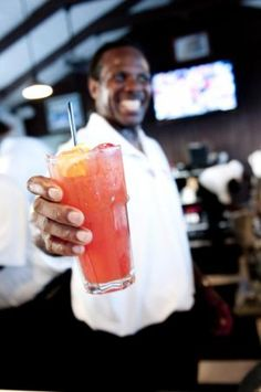 Ready-to Explode cocktail with 3 fruit infused rums and plenty of fruit juice from Bimini Big Game Club