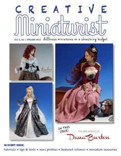 Creativeminiaturist vol 2 no 1 SPRING 2015 Creating Dollhouse Miniatures on a…