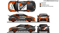 Livery Design for 2014 Papadakis Racing Hankook Tires Scion tc of Fredric Aasbø sponsored by Speedhunters.